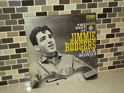 The Best of Jimmie Rodgers Folk Songs  LP Vinyl Turntable Record