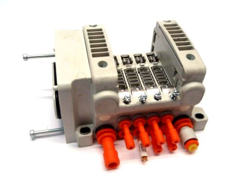 SMC VQ Series 4 Valve Pneumatic 5 Port Manifold Interface Connect
