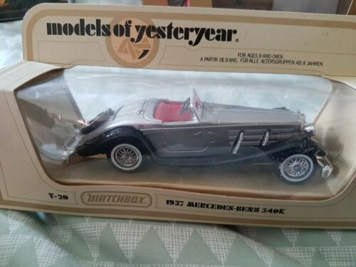 Matchbox+Models+Of+Yesteryear+1937+Mercedes+540K+Mint+Boxed