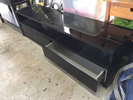 Black low line tv entertainment unit