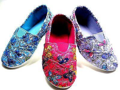 Adorable SlipOn Flats For Baby Toddler Girls Pink - Blue - Purple  Sz 3 - - Blue Flats For Girls