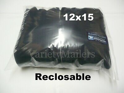 25 Large Ziplock Clear Merchandise Bags 12x15 Zip Lock Resealable Zipper Seal