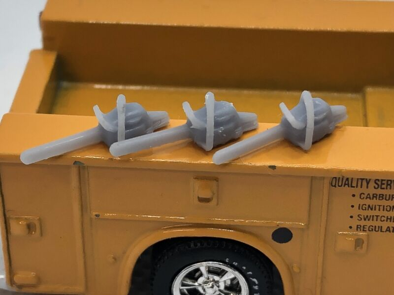1:64 Scale 3d Printed Chainsaws Pack of 3