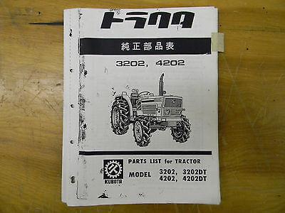 Kubota 3202 4202 Tractor Parts Manual