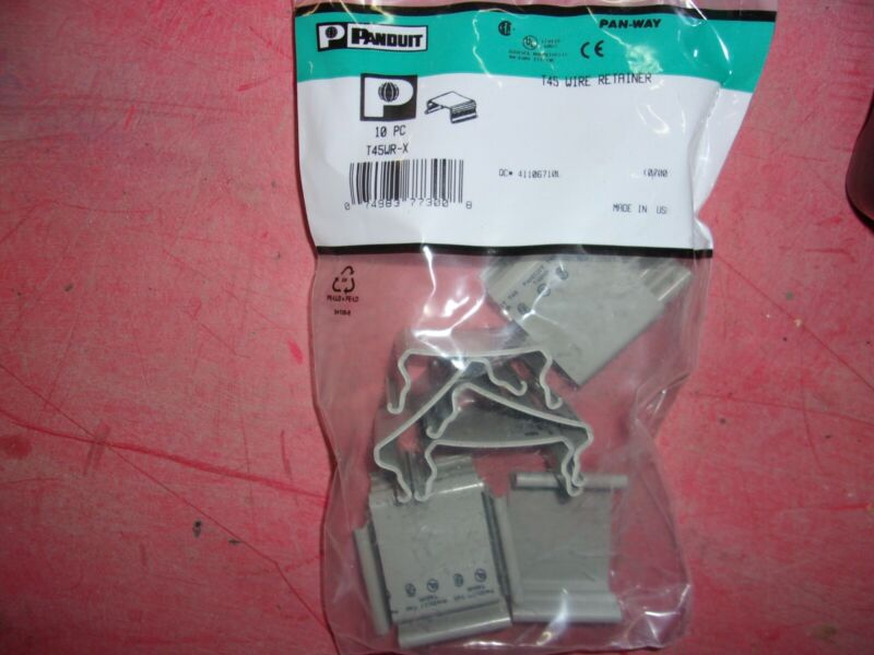 PANDUIT T45WR-X Wire Retainer,Gray,PVC,Wire Retainers
