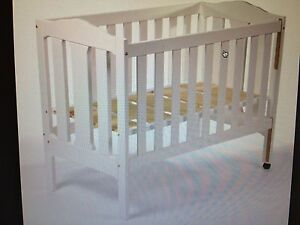 White baby cot with mattress and bedding Marrickville Marrickville Area Preview