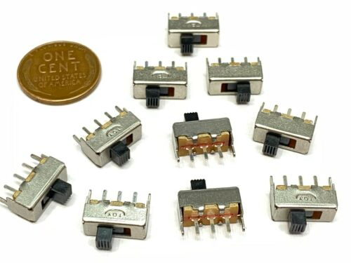 10 Pieces Slide Switch SS-12F44G3 3Pin 2 Position SPDT on/off on off  B29
