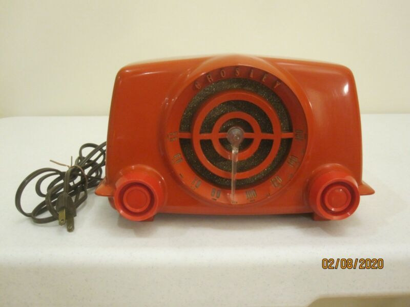 Rare Vintage Crosley Bullseye Red Bakelite Tube Radio Model 11-103U