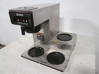 Bunn Cwt 15 Hd Commercial Pour-overautomatic Nsf Coffee Brewer W3 Warmer