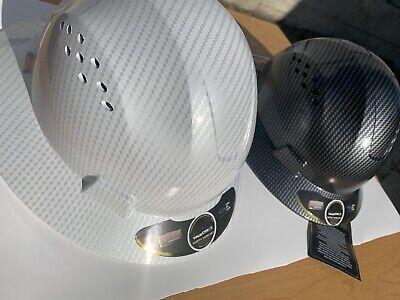 Hdpe-fiberglass Design Hard Hat-blacksilver Whitesilver--pack Of 2 Hard Hats