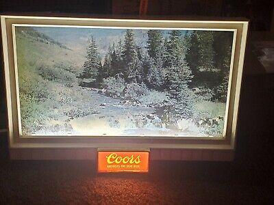 Vintage COORS original Lighted Beer Bar Advertising Sign Rare 32x21 mancave pub
