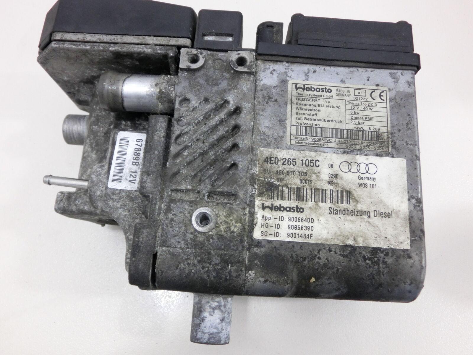 Standheizung für Audi A8 4E quattro 4E C C