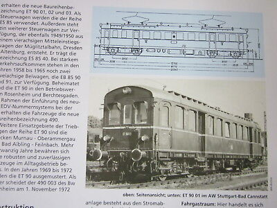 Bahn Lokaufrisse DE & Diesel ET 42 DB ET 90 Berchtesgaden Königsee 1949