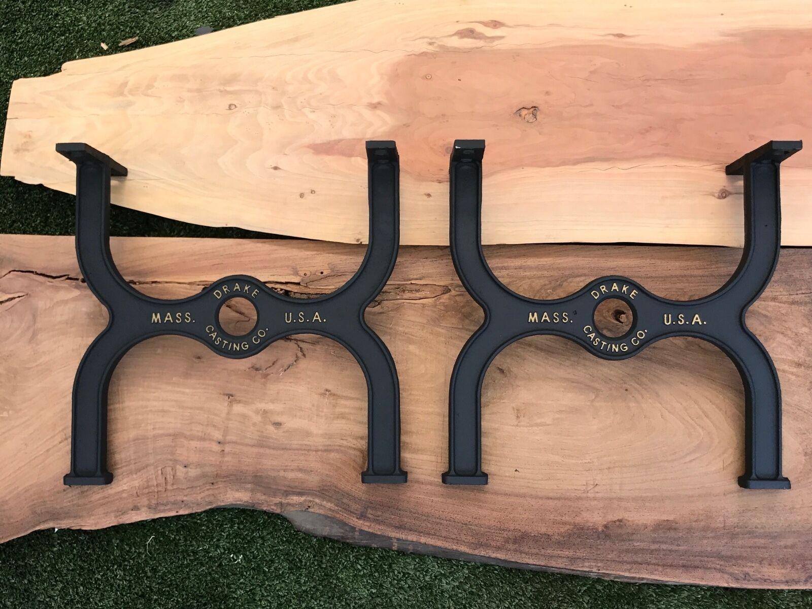 Industrial Coffee Table Legs Cast Iron DIY Bench Rustic Farm Table Machine Leg