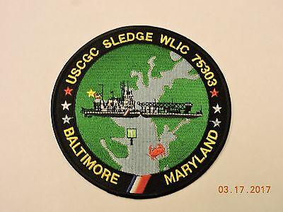US Coast Guard Cutter Sledge WLIC 75303 Baltimore MD USCG Military Patch #A1