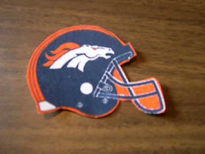 "Denver Broncos  Iron on Cotton Patch 3"" x 2"" NEW"