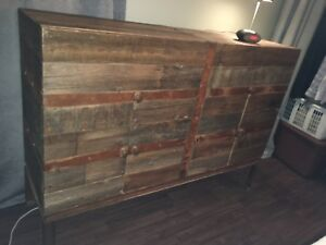 Reclaimed barn board and steel dresser/ sideboard
