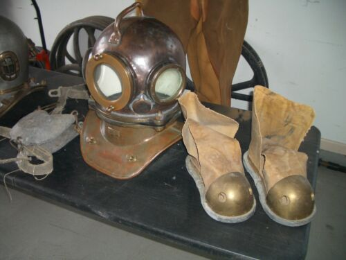 Russian Diving Helmet Weights and Boots