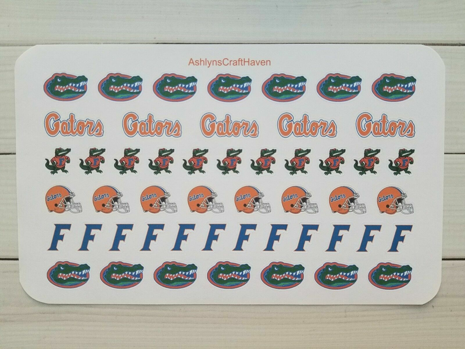 50 College Football Planner Stickers- Perfect For Any Planne