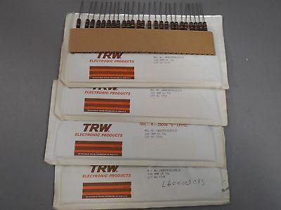 Mixed Lot Of 100 Trw 1 Watt Carbon Comp Resistors 150 180 Ohm