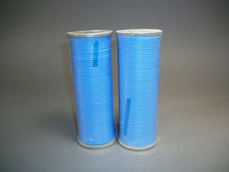 (2) 500yd Rolls Gudebrod QFM-0256 Blue Fyr-Lace Lacing Tape NEW