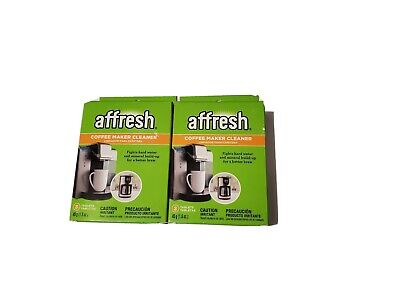 (2 BOXES = 6 TABLETS) Affresh Coffeemaker Cleaner / Decalcifier, W10355052, NEW!