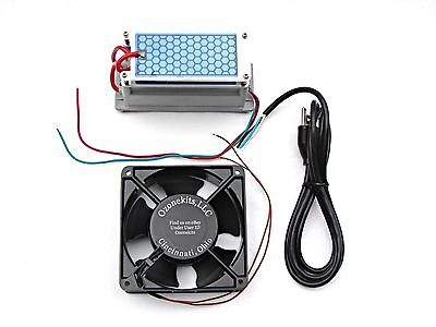 10 gr/hr Moisture Proof Ozone Kit / pre soldered and mounted elements, 120mm Fan