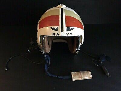 Vintage U.S. Navy Fighter Pilot Flight Helmet GENTEX Corp. Sz. Large RARE