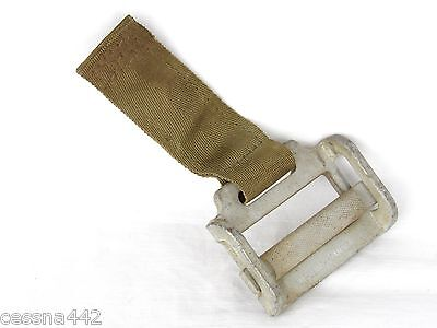 SEATBELT END FITTING Aircraft Buckle M-2494 Military Spring Heavy Duty USA Part