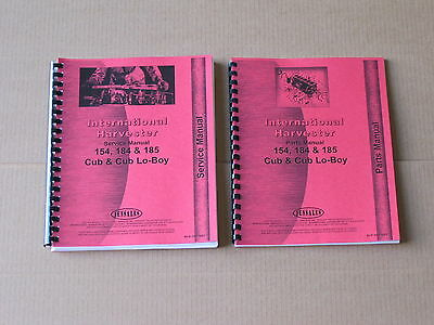 Jensales Service And Parts Manual For Ih International 154 Cub Lo-boy 184 185