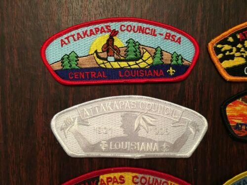 Lot of 7 Different Attakapas  Council CSPs and JSPs Alexandria Louisiana-Merged