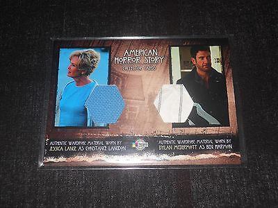 American Horror Story Dual Costume Trading Card Jessica Lange/Dylan McDermott V2 ()