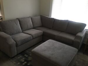 Custom made solid wood sectional