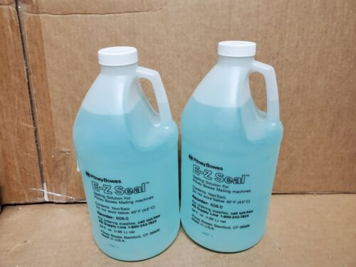 LOT OF 2 Genuine Pitney Bowes EZ-Seal Solution 64 Oz 608-0