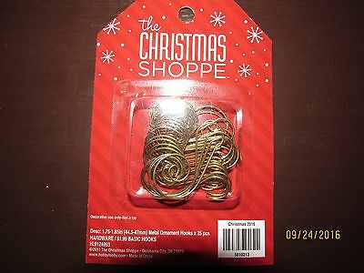 NEW 25 Metal Gold Swirl Decorative Christmas Tree Ornament Hooks