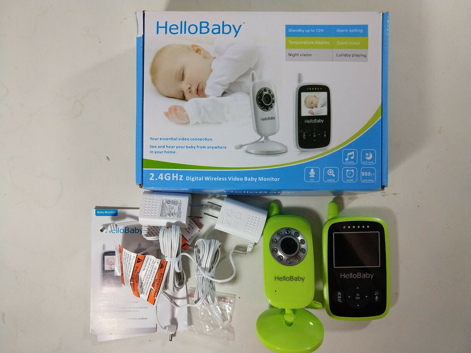 HelloBaby Baby Monitor 2.4Hz Digital Wireless, Night Vision