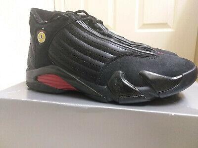 Air Jordan 14 OG Last Shot Black/Varsity Red-Black Size 9.5