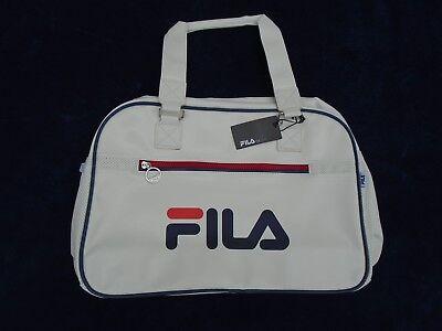 Fila Handtasche Sporttasche Freizeittasche weiss 37x11x27cm Henkeltasche Handbag