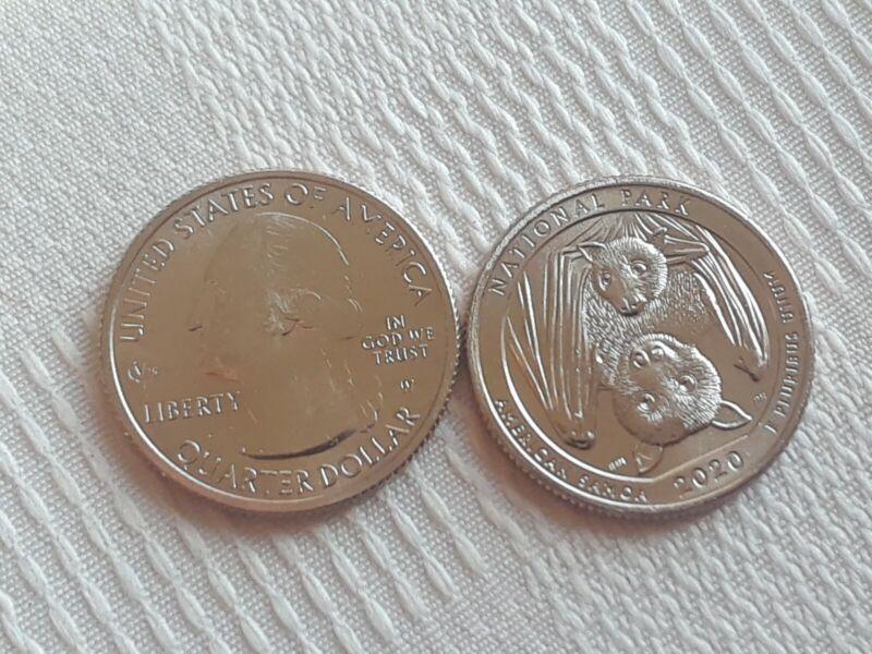 2020 W American Samoa Quarter West Point Mint V75 Privy Mark BU RARE (1) COIN