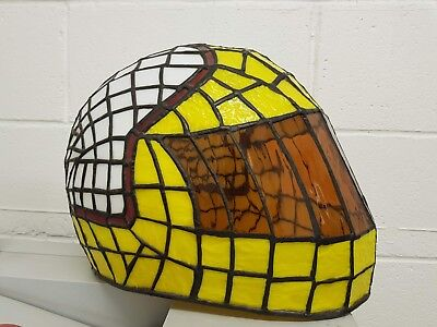 Stained Glass & Lead - Mike Hailwood Replica - Helmet Lampshade / Display Piece