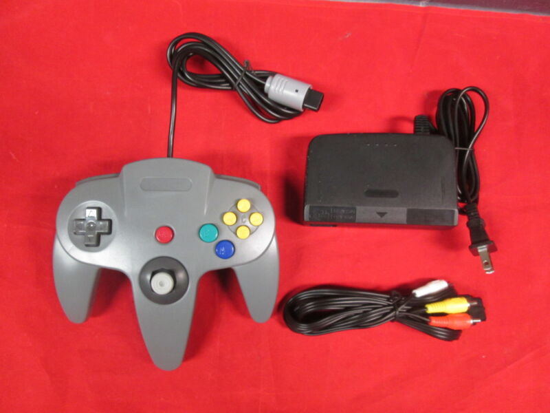 N64 Parts Bundle Controller Power Adapter And AV Cable By Mars Devices 0477