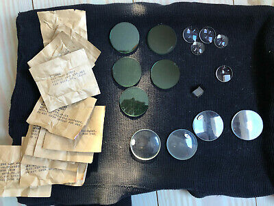 Mixed Lot of Vintage Scientific Optics Lenses and Filters - Assorted (Vintage Optical Lenses)
