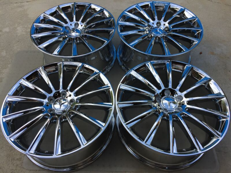 "20"" Brand New 2015 S63 S65 Cl63 S500 S550 S600 Oem Mercedes Amg ""forged"" Wheels."
