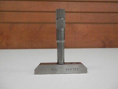 Vintage Brown Sharpe No. 607 Depth Micrometer Gauge