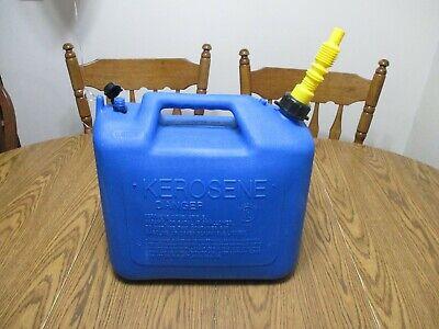 Old School Wedco 5 Gal Gallon Plastic Vented Kerosene Fuel Gas Can Jug