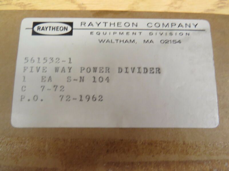 Raytheon Five Way Power Divider