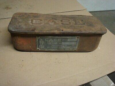 Vintage Ji Advertising Case Emblem Tractor Fender Mounted Mount Tool Box