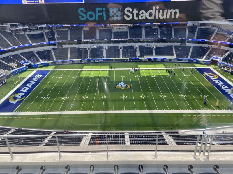 2 Seats LA Rams Vs Jaguars 12/5/21 Sec 443 50 Yd Line Great Seats Parking