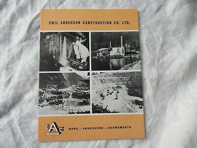 Ea Emil Anderson Construction Co Brochure Bucyrus-erie Crane