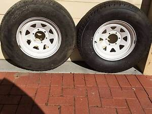 """Two new 16"""" steel wheels and new 265/70 x 16 tyre Deakin South Canberra Preview"""